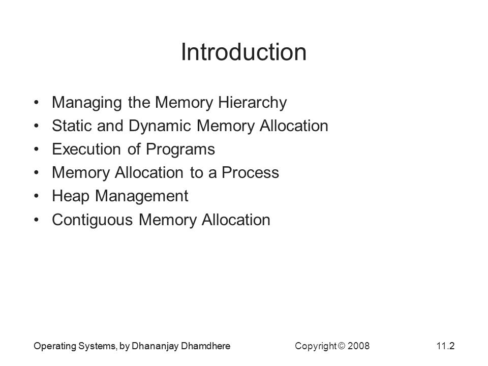 Introduction Managing the Memory Hierarchy