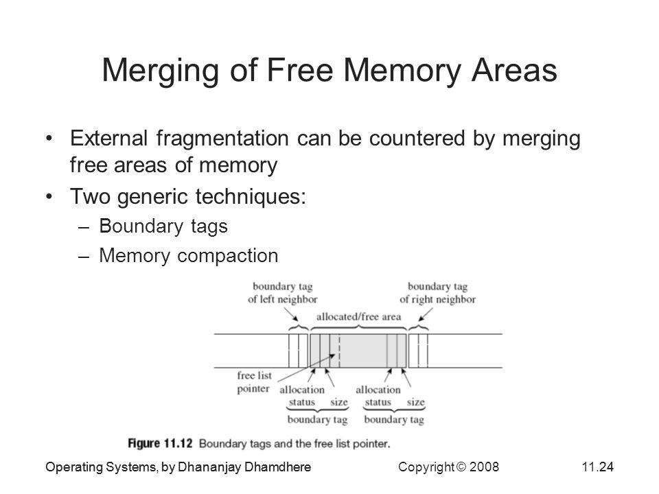 Merging of Free Memory Areas