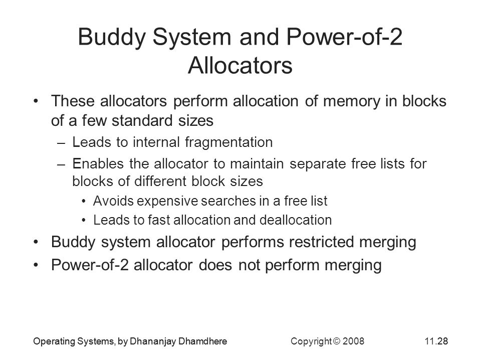 Buddy System and Power-of-2 Allocators