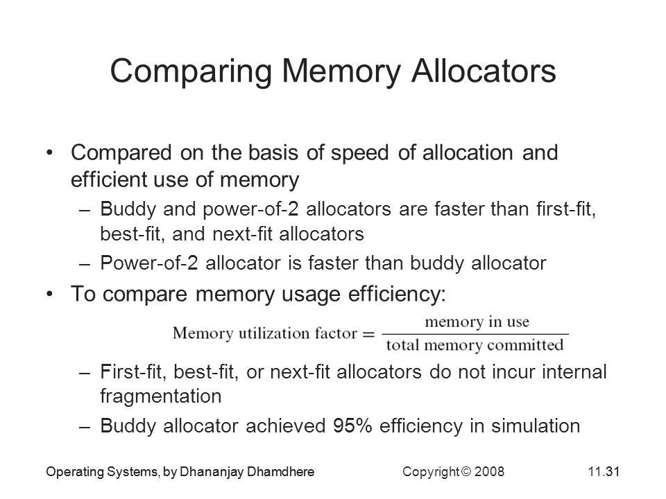 Comparing Memory Allocators