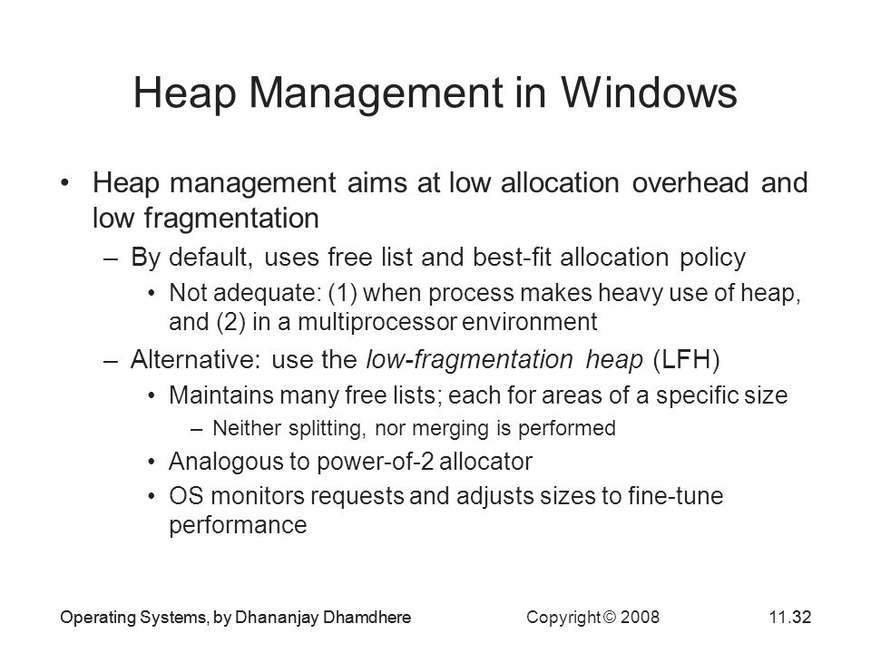 Heap Management in Windows