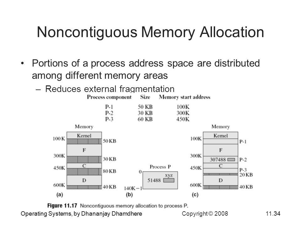 Noncontiguous Memory Allocation