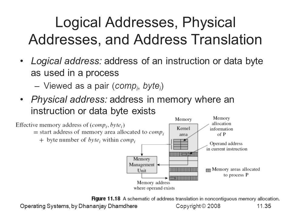 Logical Addresses, Physical Addresses, and Address Translation