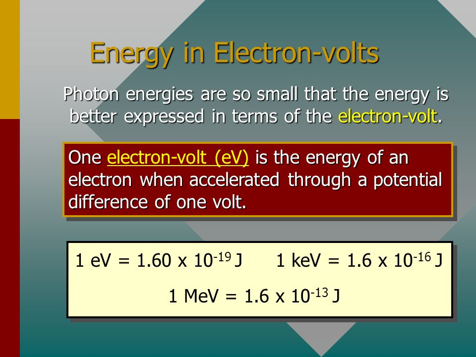 Energy in Electron-volts