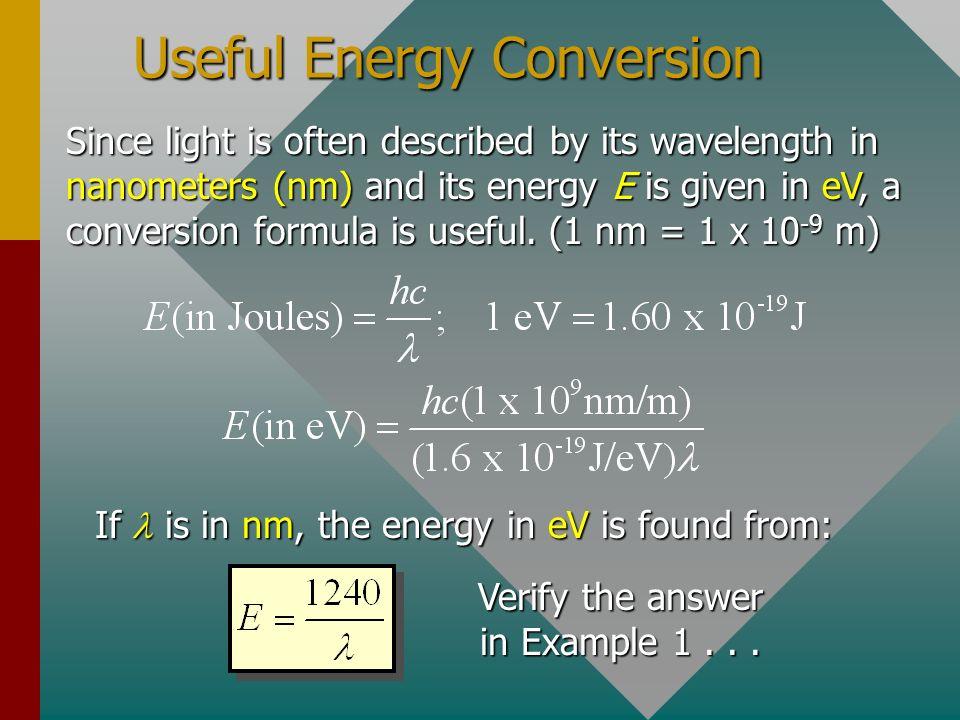 Useful Energy Conversion