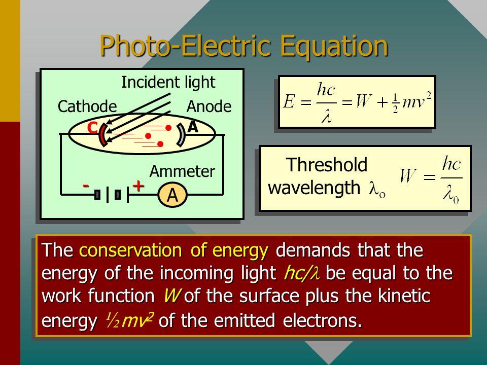 Photo-Electric Equation