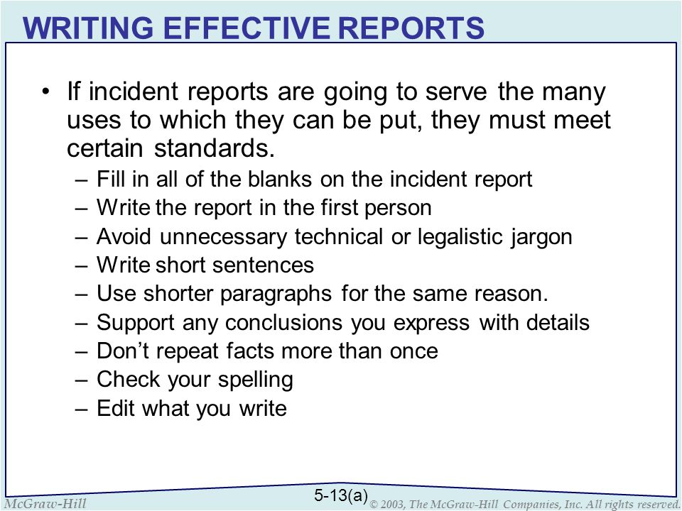 Field Notes And Investigating Reporting - Ppt Download