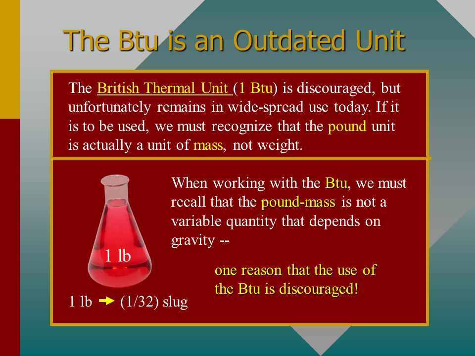 The Btu is an Outdated Unit