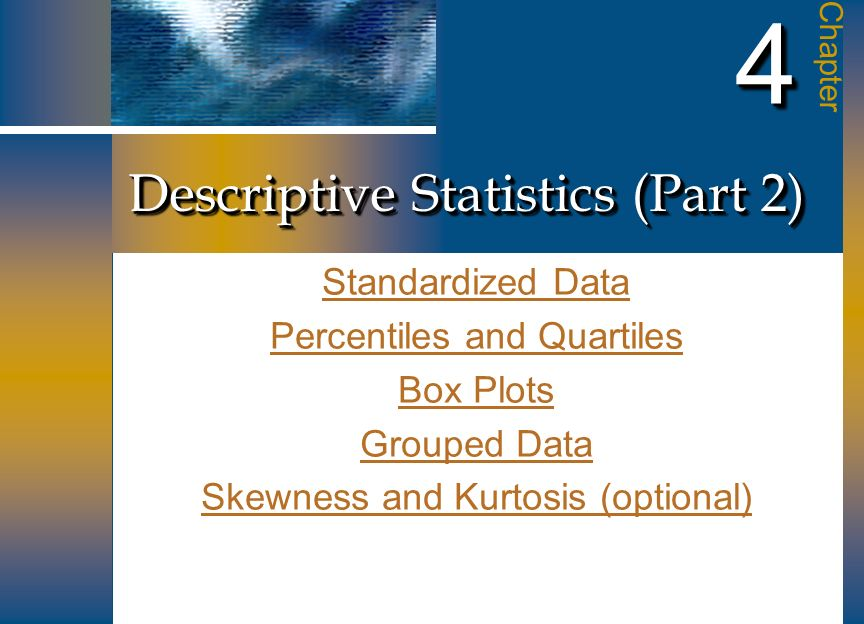 Descriptive Statistics (Part 2)