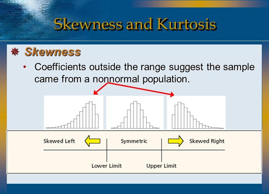 Skewness and Kurtosis Skewness