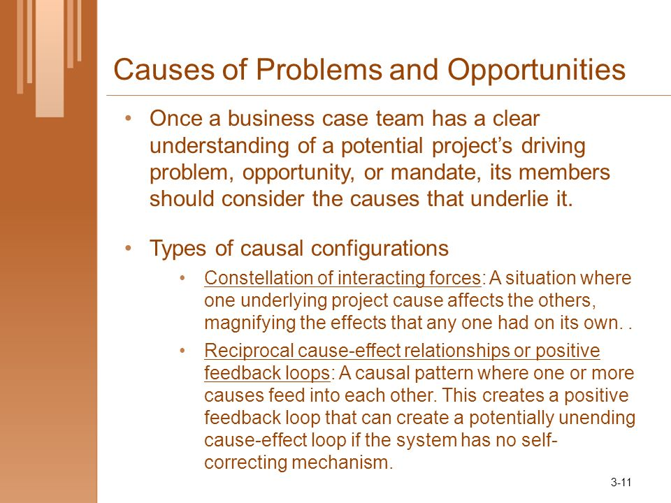 Causes of Problems and Opportunities