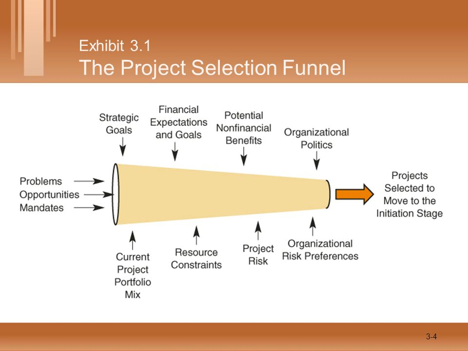 Exhibit 3.1 The Project Selection Funnel