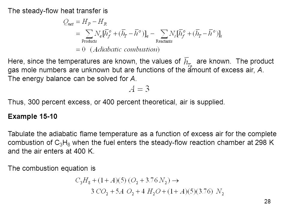The steady-flow heat transfer is