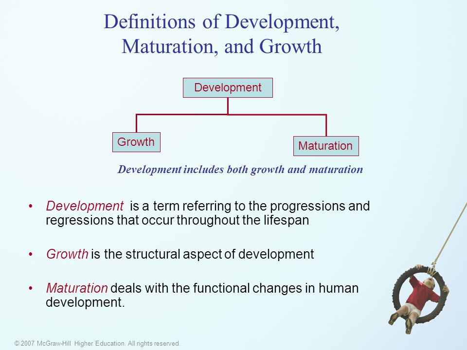 Definitions of Development, Maturation, and Growth