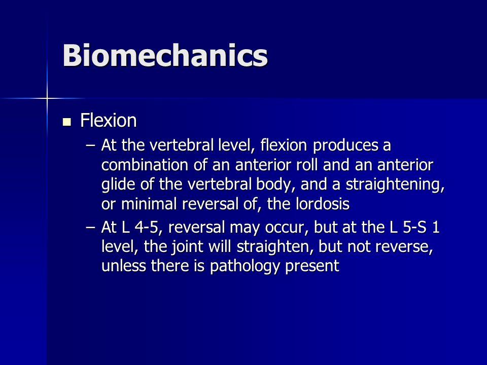 Biomechanics Flexion.
