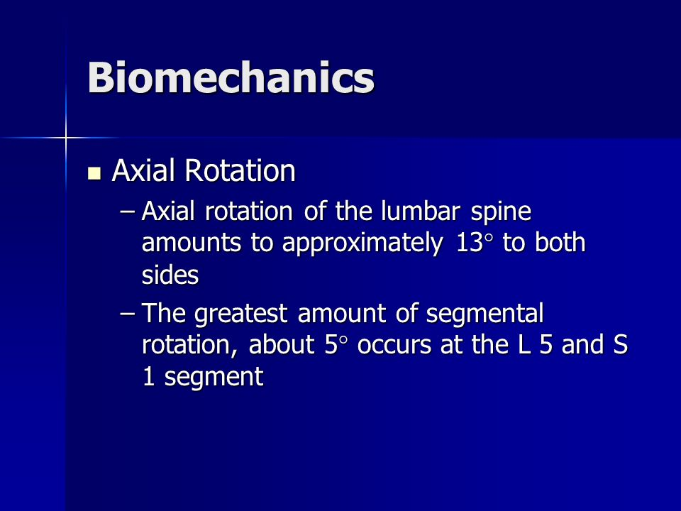 Biomechanics Axial Rotation