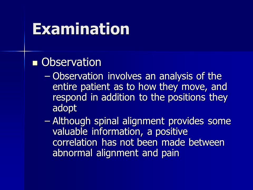 Examination Observation