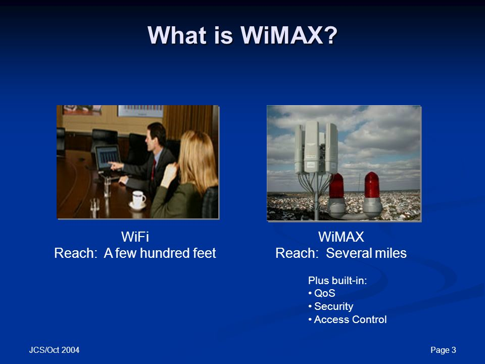 What is WiMAX WiFi Reach A few hundred feet  sc 1 st  SlidePlayer & Motorola and WiMAX Motorola Canopy™ Wireless Broadband Products ...