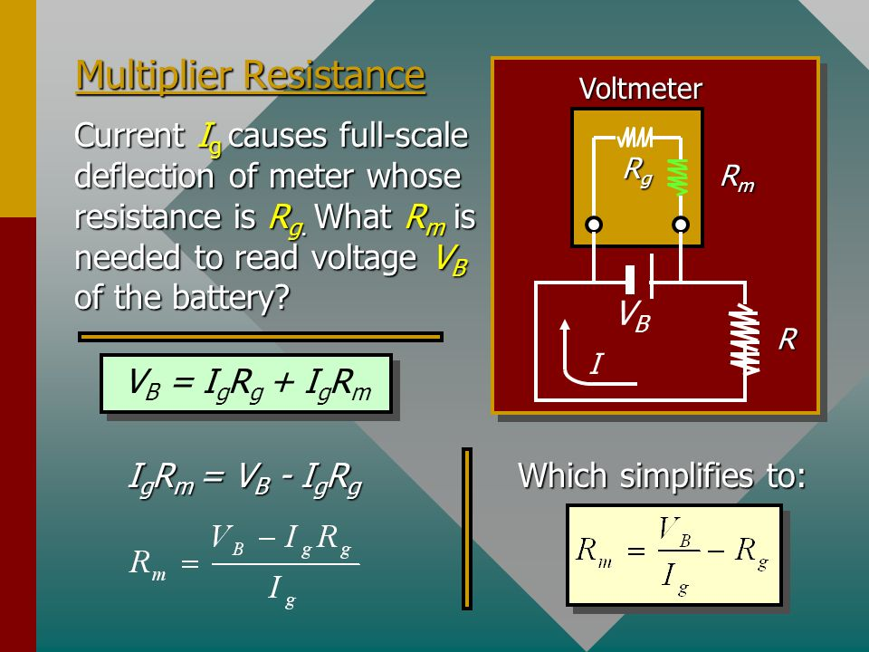 Multiplier Resistance