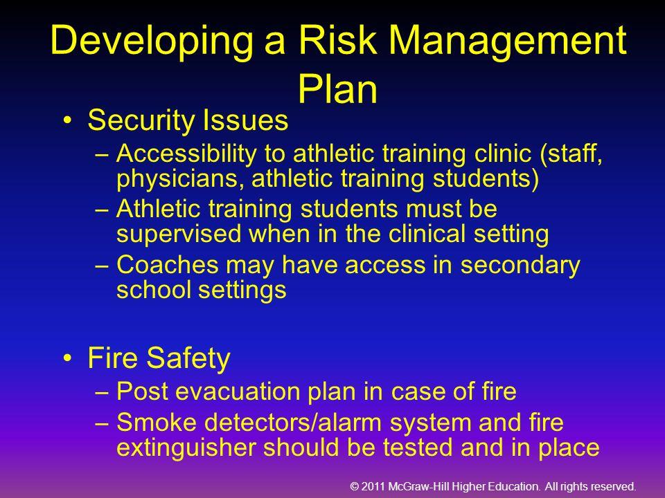 Developing a Risk Management Plan
