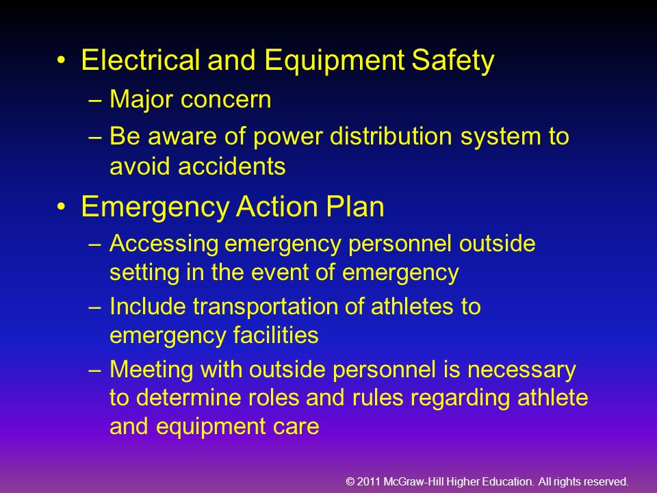 Electrical and Equipment Safety