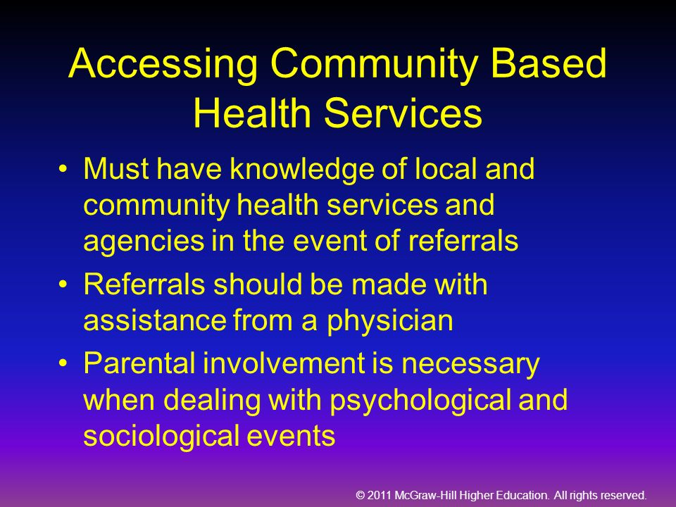 Accessing Community Based Health Services