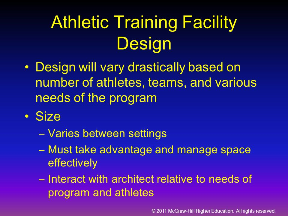 Athletic Training Facility Design