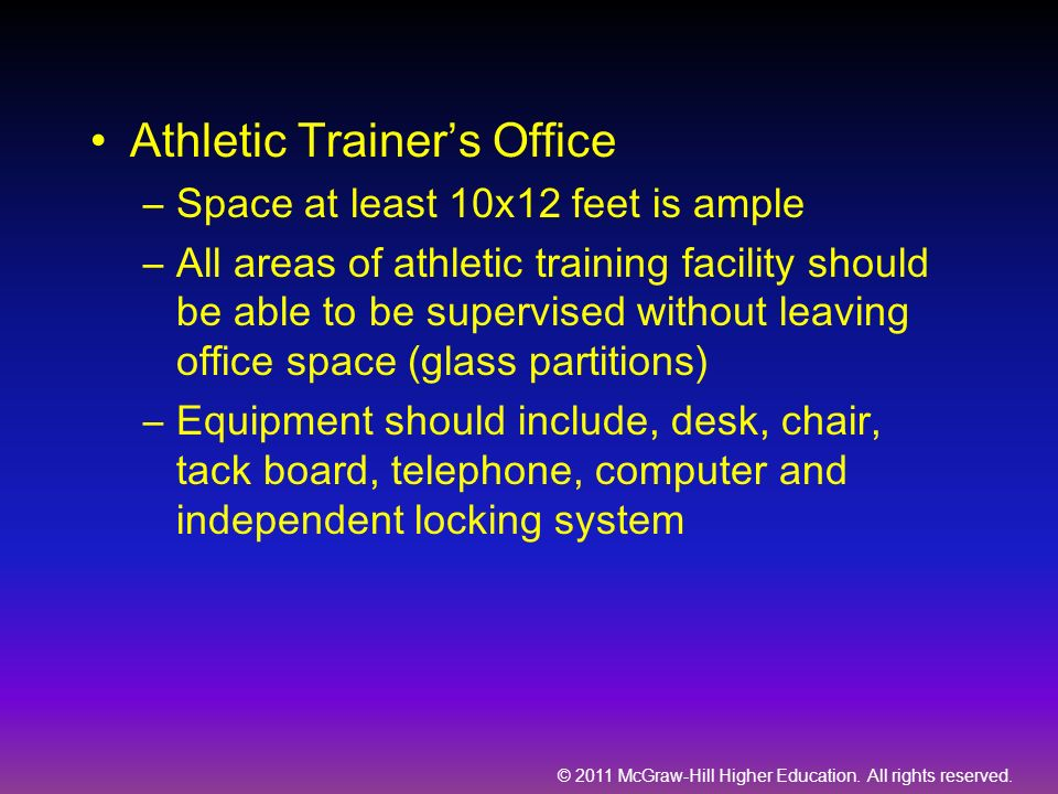 Athletic Trainer's Office