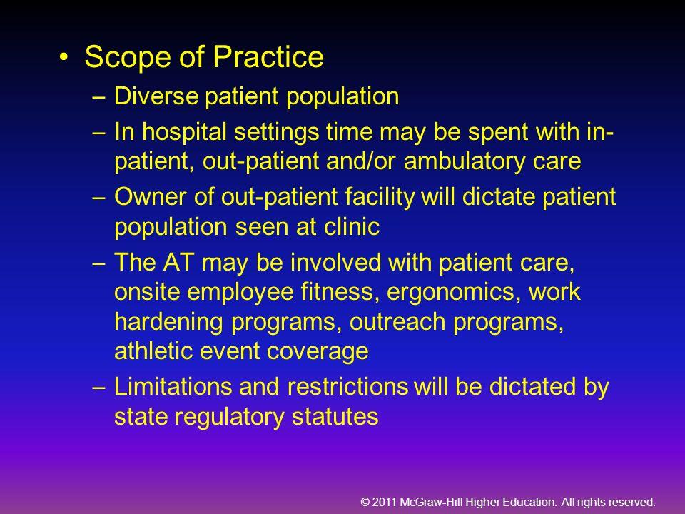 Scope of Practice Diverse patient population