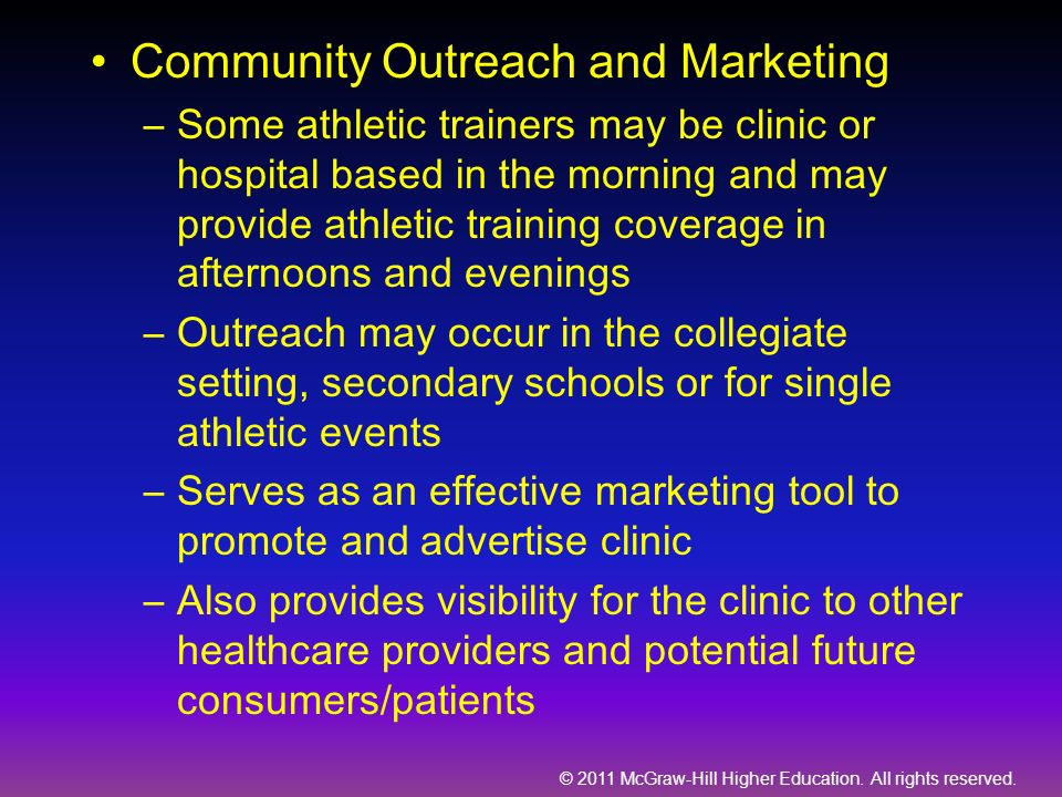 Community Outreach and Marketing