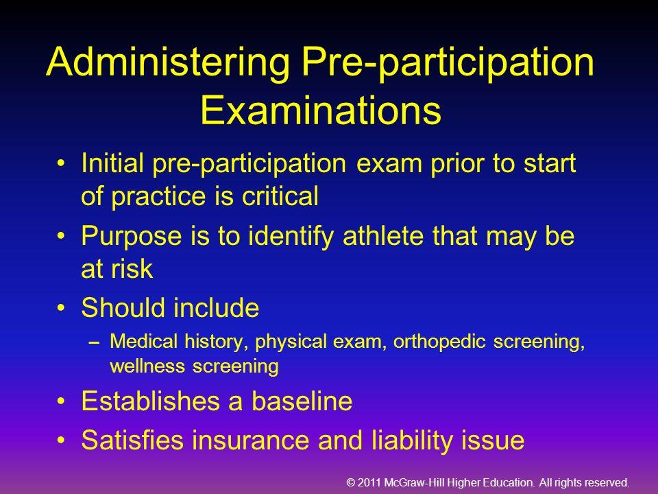 Administering Pre-participation Examinations