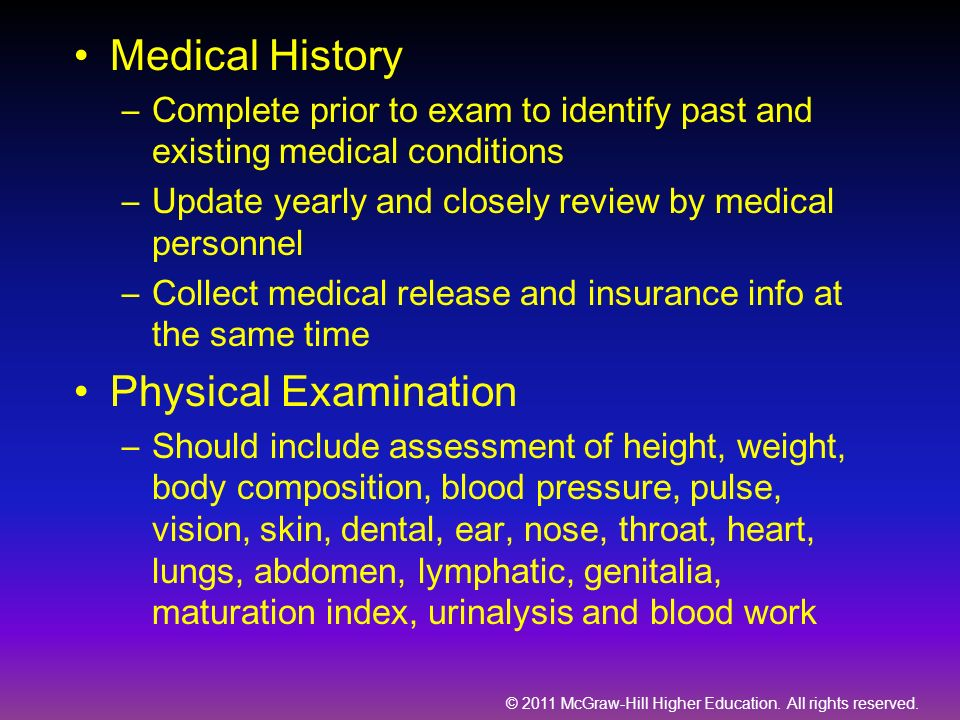 Medical History Physical Examination