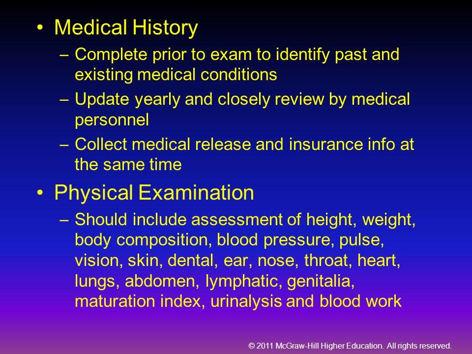 Medical History Physical Examination