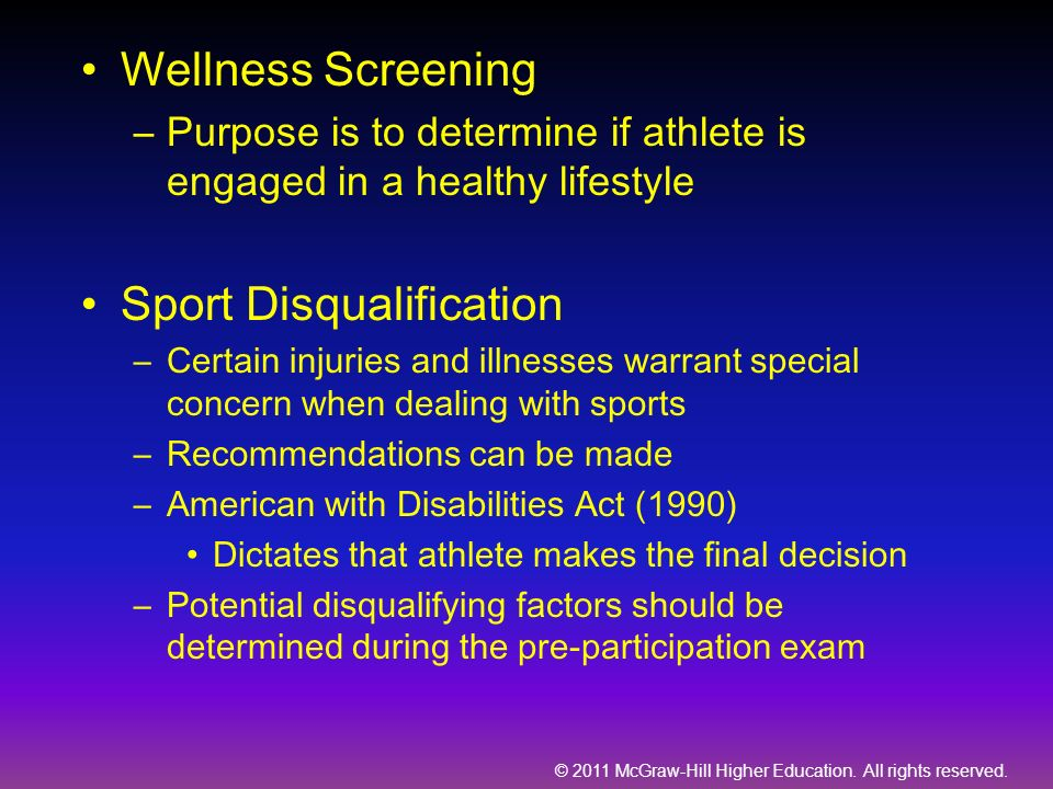 Sport Disqualification