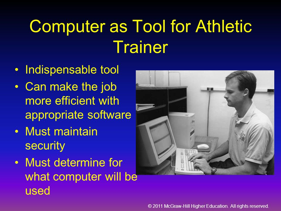 Computer as Tool for Athletic Trainer