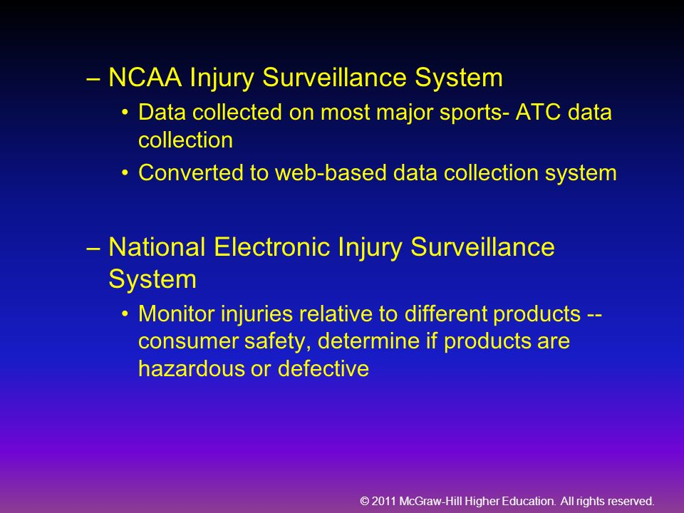 NCAA Injury Surveillance System
