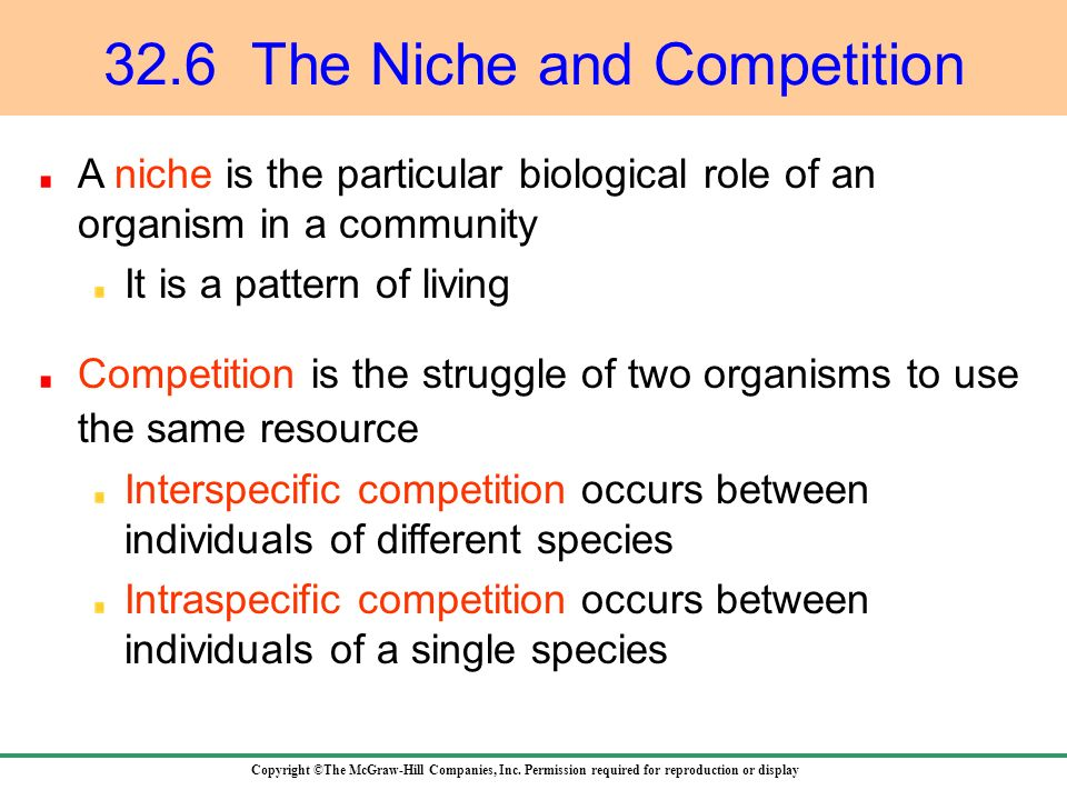 32.6 The Niche and Competition