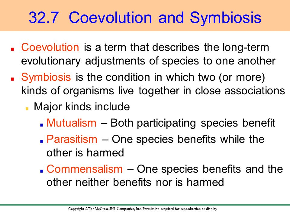 32.7 Coevolution and Symbiosis