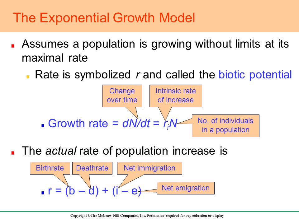 The Exponential Growth Model