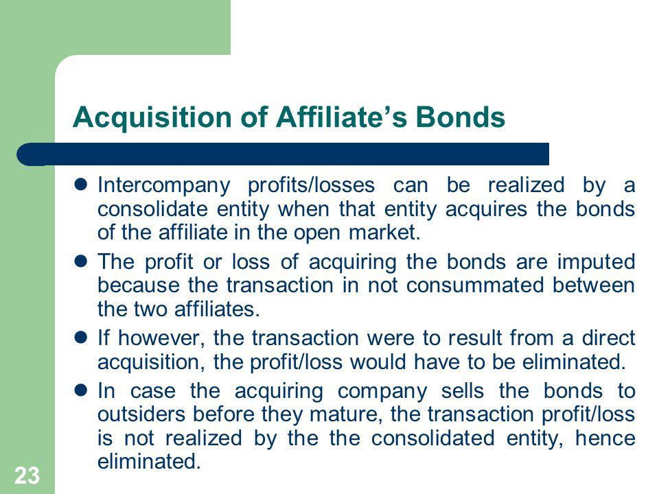 Acquisition of Affiliate's Bonds
