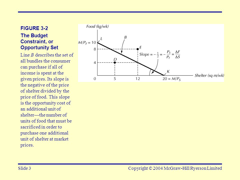 The Budget Constraint, or Opportunity Set