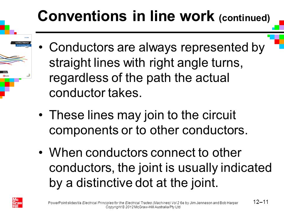 Conventions in line work (continued)