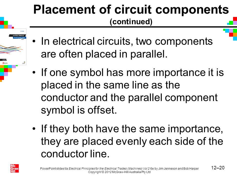 Placement of circuit components (continued)