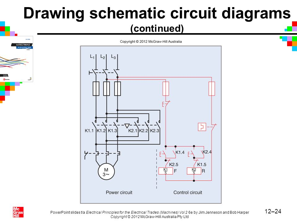 Drawing schematic circuit diagrams (continued)
