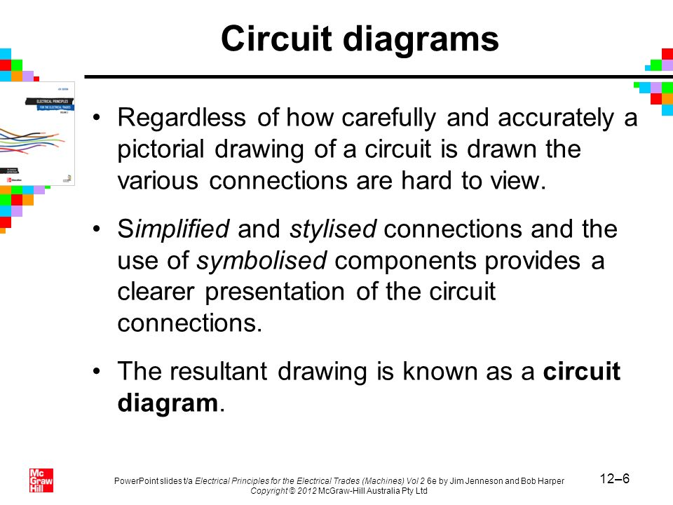 Circuit diagrams Regardless of how carefully and accurately a pictorial drawing of a circuit is drawn the various connections are hard to view.