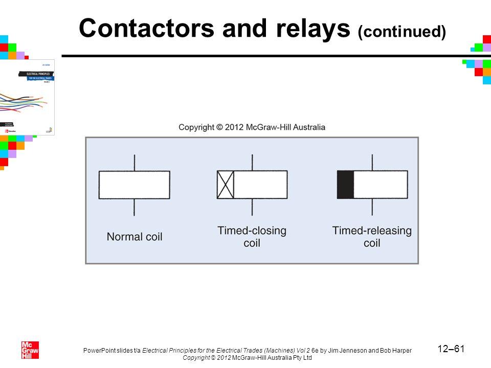 Contactors and relays (continued)