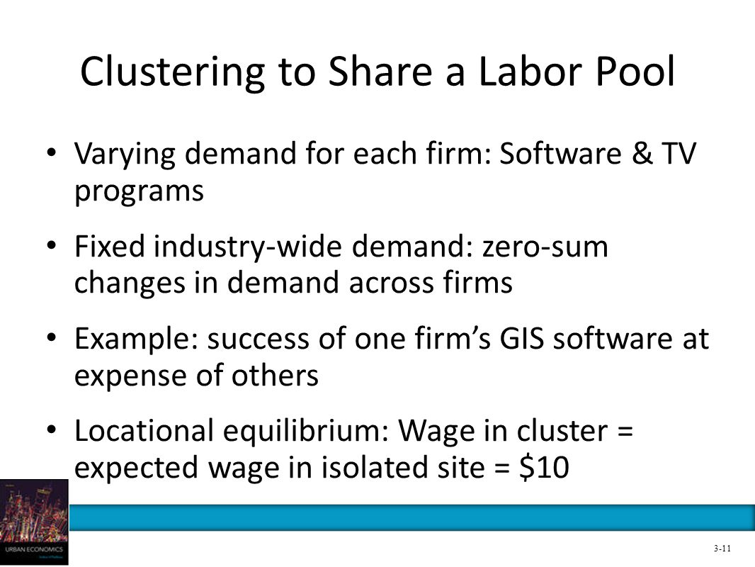 Clustering to Share a Labor Pool