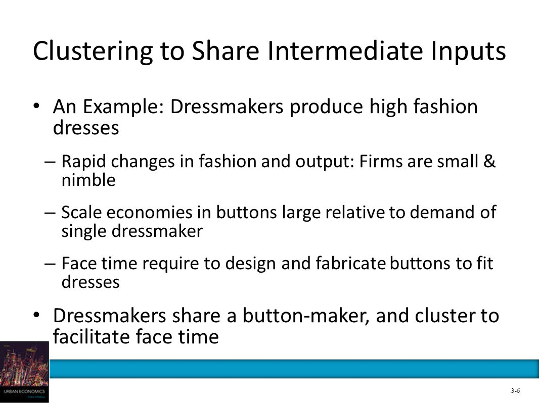 Clustering to Share Intermediate Inputs
