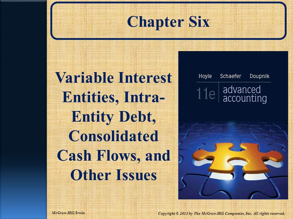 Chapter SixVariable Interest Entities, Intra-Entity Debt, Consolidated Cash Flows, and Other Issues.