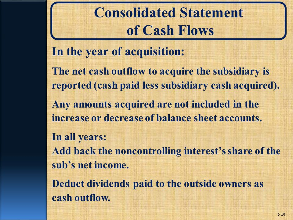 Consolidated Statement of Cash Flows